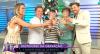 Equipe da RedeTV! grava vinheta de Fim de Ano
