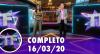 TV Fama (16/03/20) | Completo