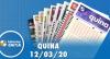 Resultado da Quina - Concurso nº 5218 - 12/03/2020