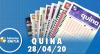 Resultado da Quina - Concurso nº 5256 - 28/04/2020