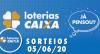 Loterias Caixa: Lotofácil, Lotomania e Quina 05/06/2020