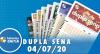 Resultado da Dupla Sena - Concurso nº 2100 - 04/07/2020
