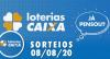 Loterias Caixa: Mega Sena, Quina, Dia de Sorte e mais 08/08