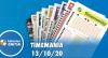 Resultado da Timemania - Concurso nº 1549 - 13/10/2020