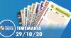 Resultado da Timemania - Concurso nº 1556 - 29/10/2020