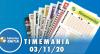 Resultado da Timemania - Concurso nº 1558 - 03/11/2020