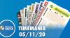 Resultado da Timemania - Concurso nº 1559 - 05/11/2020