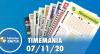 Resultado da Timemania - Concurso nº 1560 - 07/11/2020