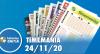Resultado da Timemania - Concurso nº 1567 - 24/11/2020
