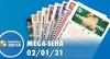 Resultado da Mega Sena - Concurso nº 2331 - 02/01/2021
