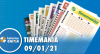 Resultado da Timemania - Concurso 1586 - 09/01/2021