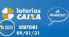 Loterias Caixa: Mega-Sena, Quina, Lotofácil e mais - 09/01/2021