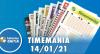 Resultado da Timemania - Concurso 1588 - 14/01/2021