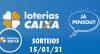 Loterias Caixa: Quina, Lotofácil, Lotomania 15/01/2021