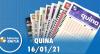 Resultado da Quina - Concurso nº 5468 - 16/01/2021