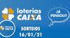 Loterias CAIXA: Mega-Sena, Quina, Lotofácil e mais 16/01/2021