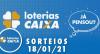 Loterias Caixa: Quina e Lotofácil 18/01/2021