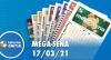 Resultado da Mega Sena - Concurso nº 2353 - 17/03/2021