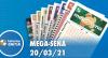Resultado da Mega Sena - Concurso nº 2354 - 20/03/2021