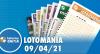 Resultado da Lotomania - Concurso nº 2168 - 09/04/2021