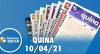 Resultado da Quina - Concurso nº 5537 - 10/04/2021