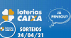 Loterias CAIXA: Mega Sena, Quina, Dupla Sena e mais 24/04/2021