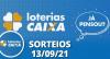Loterias CAIXA: Super Sete, Lotofácil e Quina 13/09/2021