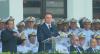 Jair Bolsonaro defende democracia em evento com militares