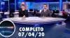 Assista à íntegra do RedeTV News de 07 de abril de 2020