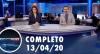 Assista à íntegra do RedeTV News de 13 de abril de 2020