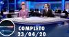 Assista à íntegra do RedeTV News de 23 de abril de 2020