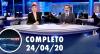 Assista à íntegra do RedeTV News de 24 de abril de 2020