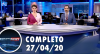 Assista à íntegra do RedeTV News de 27 de abril de 2020