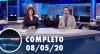 Assista à íntegra do RedeTV News de 8 de maio de 2020
