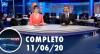 Assista à íntegra do RedeTV News de 11 de junho de 2020