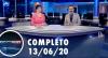 Assista à íntegra do RedeTV News de 13 de junho de 2020
