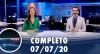 Assista à íntegra do RedeTV News de 7 de julho de 2020