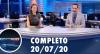 Assista à íntegra do RedeTV News de 20 de julho de 2020