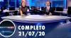 Assista à íntegra do RedeTV News de 21 de julho de 2020