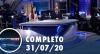 Assista à íntegra do RedeTV News de 31 de julho de 2020