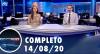 Assista à íntegra do RedeTV News de 14 de agosto de 2020