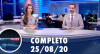 Assista à íntegra do RedeTV News de 25 de agosto de 2020