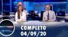 Assista à íntegra do RedeTV News de 4 de setembro de 2020