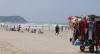 Praias no litoral de SP têm movimentação intensa no feriadão