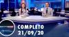 Assista à íntegra do RedeTV News de 21 de setembro de 2020