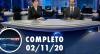 Assista à íntegra do RedeTV News de 2 de novembro de 2020