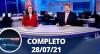 Assista à íntegra do RedeTV News de 28 de julho de 2021