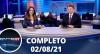 Assista à íntegra do RedeTV News de 02 de agosto de 2021