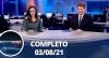 Assista à íntegra do RedeTV News de 03 de agosto de 2021