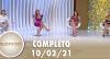 SuperPop: Relacionamentos modernos (10/02/21) | Completo